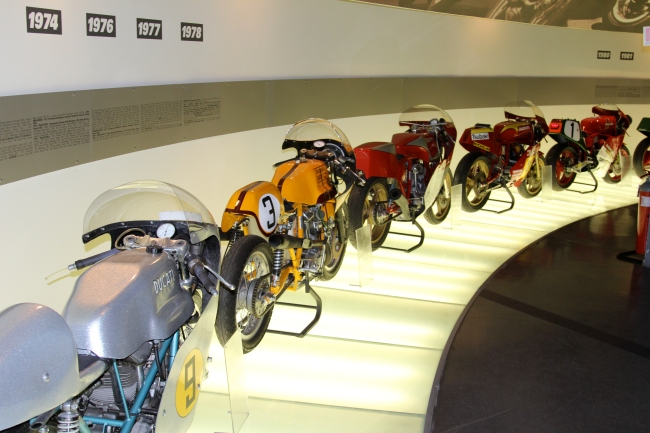 ducati's motorcycles in museum, Ducati motorcycle factory tour, www.theeducationaltourist.com