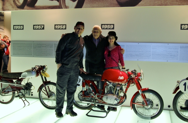 The Educational Tourist and early motorcycle racer, Ducati motorcycle factory tour, www.theeducationaltourist.com