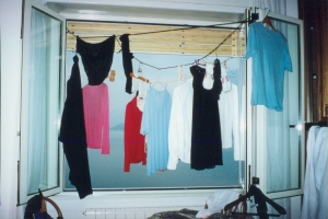 Laundry hanging to dry in a window in Varenna,Italy, Packing Light, www.theeducationaltourist.com