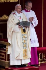 Photo of Pope Francis by Andrew Medichini/AP, St. Peter's Bones, www.theeducationaltourist.com