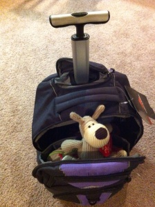 rolling backpack with handle and stuffed animal, suitcases for kids, www.theeducationaltourist.com